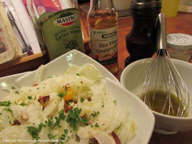 Salade de fenouil et ses clémentines